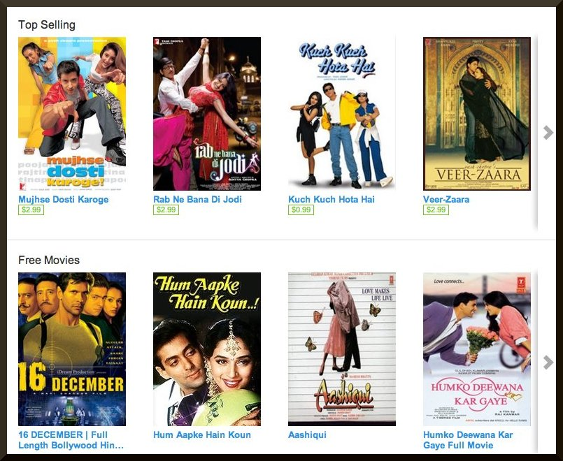 Hindi movies on Youtube